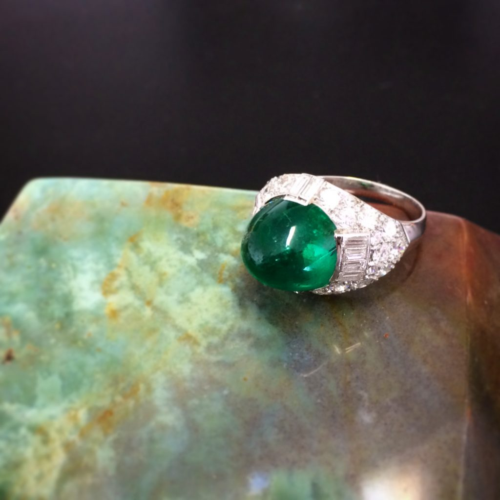 Object Of The Week Art Deco Old Mine Colombian Emerald