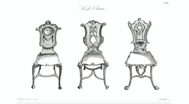 antique hall chair designs